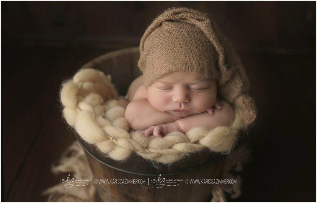 newborn baby boy portrait by karissa zimmer in mechanicsburg pa