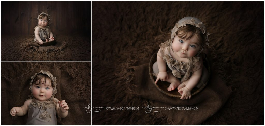 6 month old baby photographed in17050 Pa by Karissa Zimmer Photography