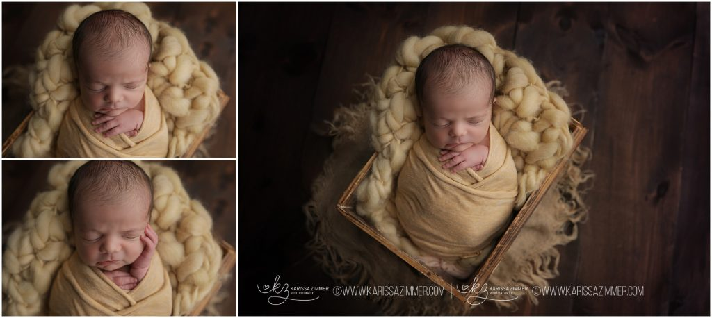 newborn baby photographed by karissa zimmer photography