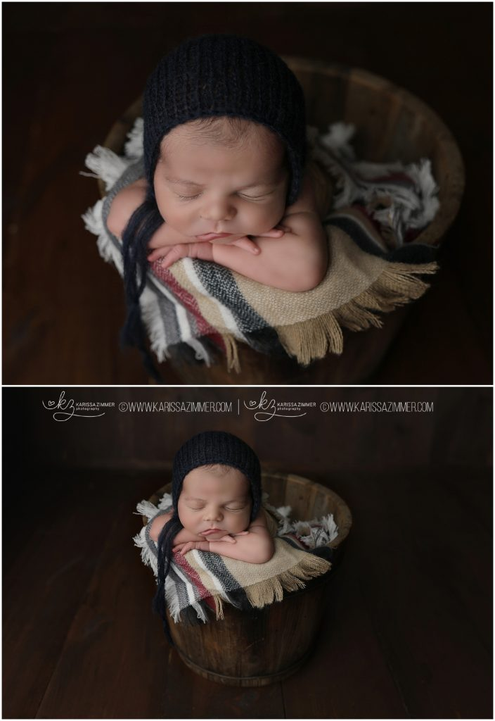 karissa zimmer photography captures baby boy in adorable pose