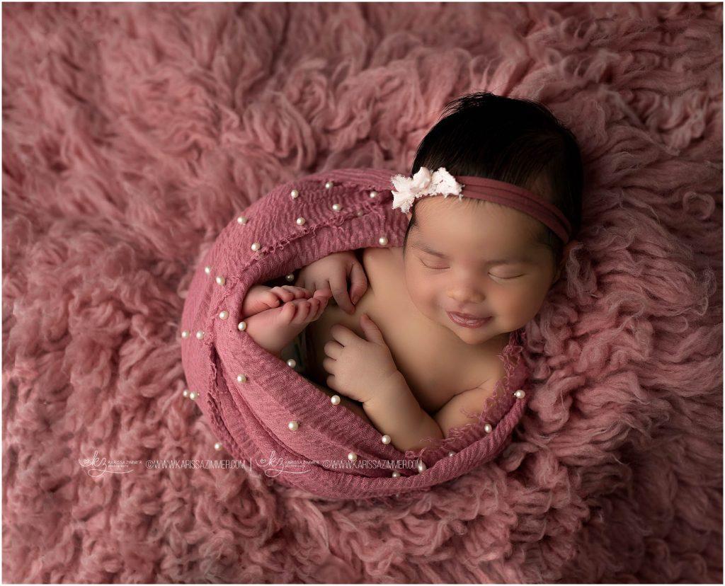 newborn photographer karissa zimmer photographs baby girl near camp hill pa