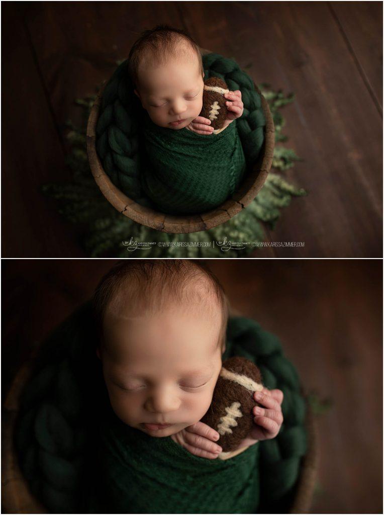 newborn baby boy photographed in Mechanicsburg pa by karissa zimmer photography