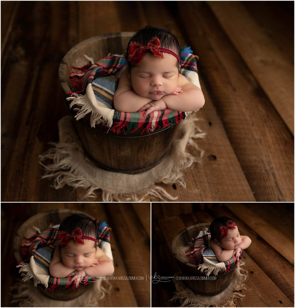 Booking a newborn baby girl session with Karissa Zimmer Photography