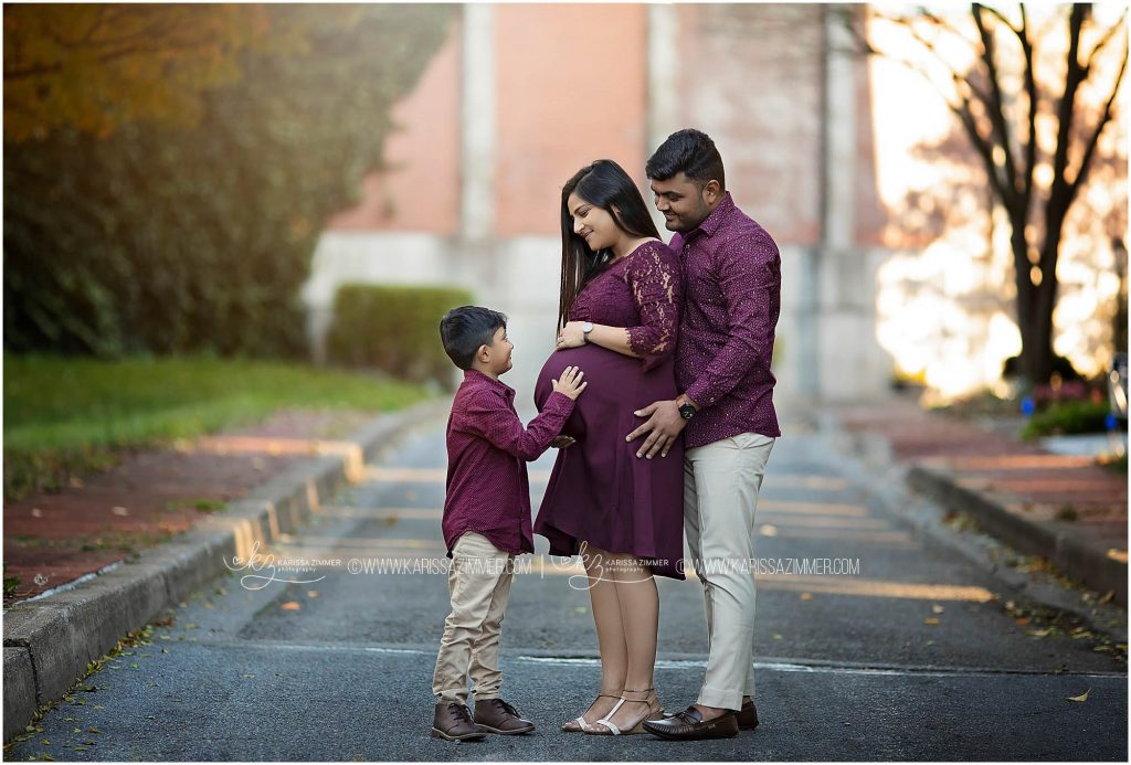 camp hill pa maternity photographer captures family together during their session