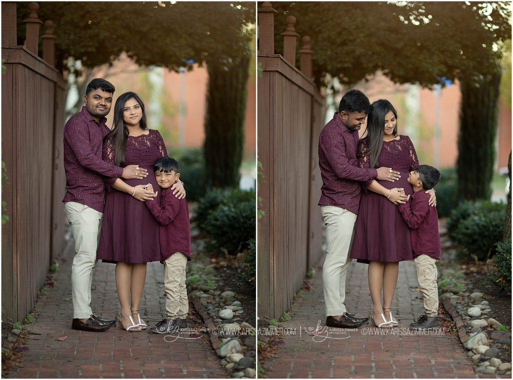 maternity photographer in camp hill captures family together during their session