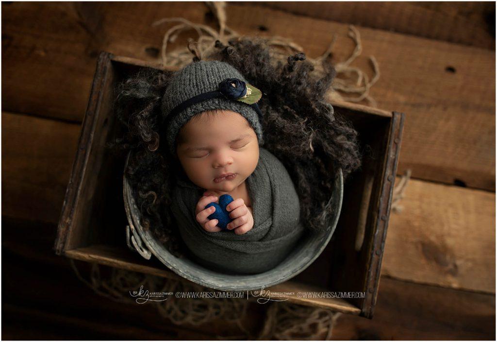 Newborn girl photographed by Camp Hill Newborn Photographer