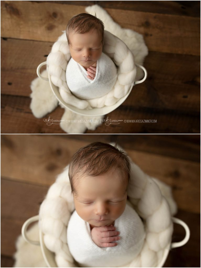posed newborn photography at camp hill photo studio