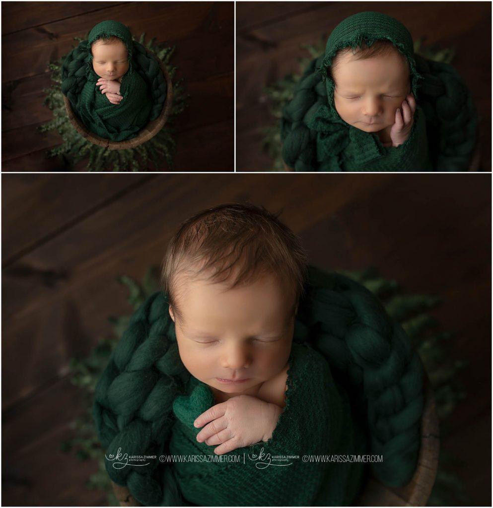 karissa zimmer photography captures posed newborn shots at her camp hill portrait studio