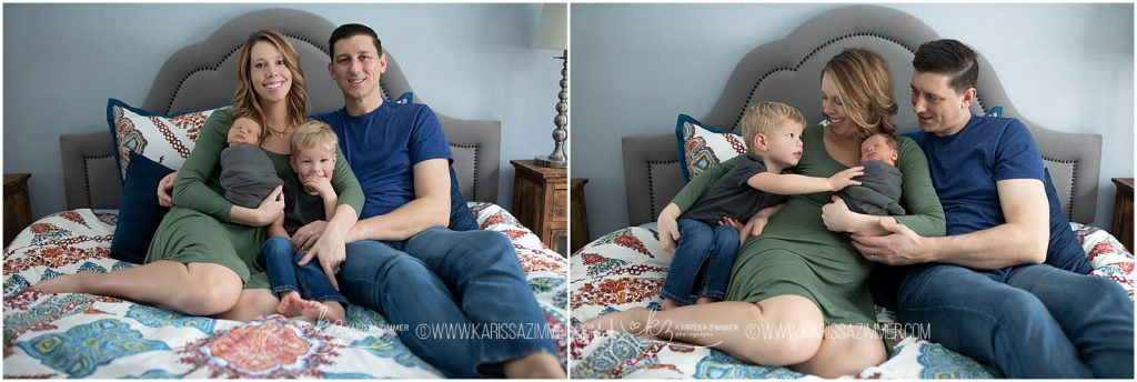 family captured together at newborn photography lifestyle session