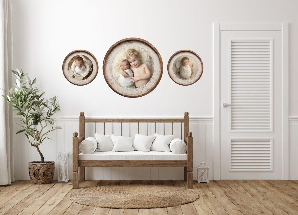 custom framed prints installed on walls by camp hill pa photographer karissa zimmer photography
